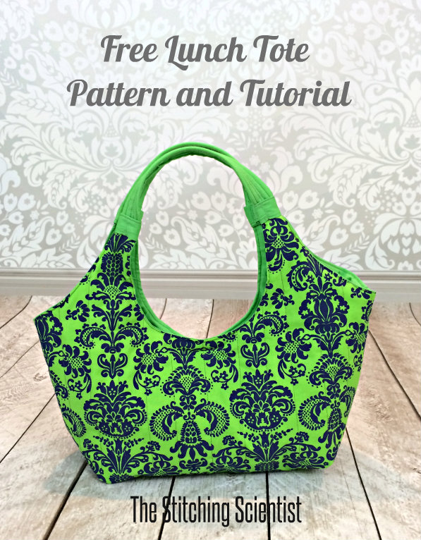 """Lunch Tote"" Free Tote Bag Pattern designed by Remona from The Stitching Scientist"